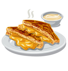 Grilled cheese vector