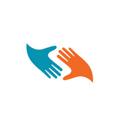Hand care icon business vector