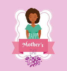 happy mothers day cartoon vector image
