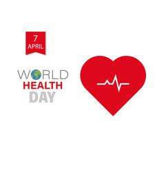 health day world health days card for health day vector image