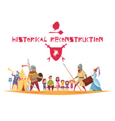 Historical reconstruction concept vector
