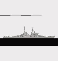 hms vanguard 1946 royal navy battleship vector image