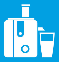 Juicer icon white vector