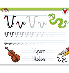 Learn to write letter v vector