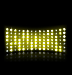 Led projection screen vector