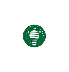 lightbulb logo template icon vector image