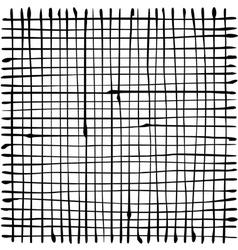 liquid organic black stripe grid pattern on white vector image