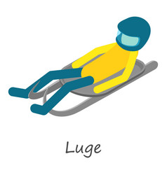 luge sport icon isometric style vector image