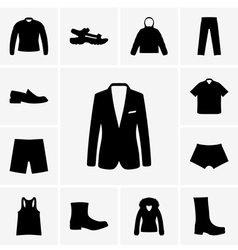 Man clothing vector image