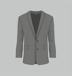 mens black business suit vector image