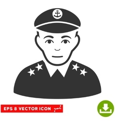 Military Captain EPS Icon vector