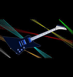 Modern electric guitar with lazers vector
