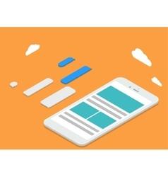 modern isometric smartphone vector image