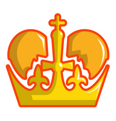 monarch crown icon cartoon style vector image
