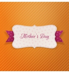 Mothers Day paper greeting Banner vector image