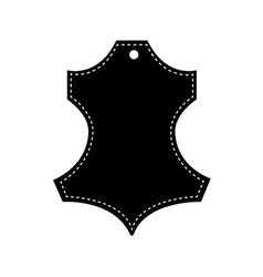 natural leather icom black vector image
