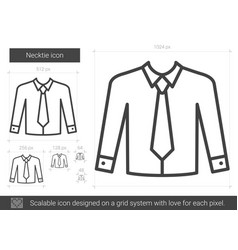 necktie line icon vector image
