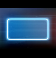 Neon glowing blue frame on a modern background vector