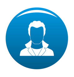 new man avatar icon blue vector image