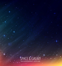 Night universe background vector