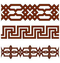 Ornate borders vector image