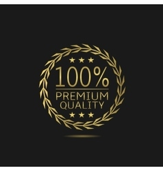 Premium quality badge vector