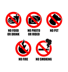 Prohibit sign collection vector