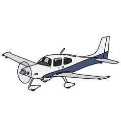 Propeller airplane vector