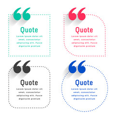 quotes template set in dots line style vector image