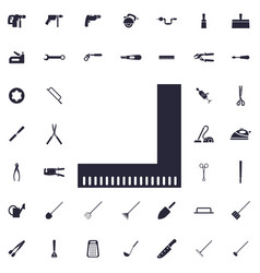 Ruler icon vector