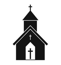 Rural church icon simple style vector