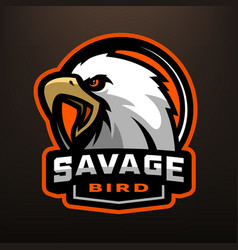 savage bird eagle sports logo vector image