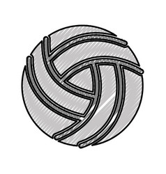 scribble volley ball cartoon vector image