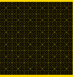 Seamless pattern in style kumiko brown fine lines vector