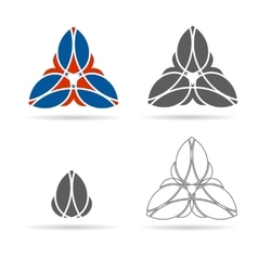 set of geometrical figures ornament vector image