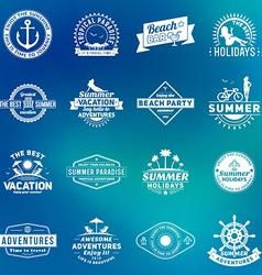 Set of Summer Holidays Design Elements Hipster vector