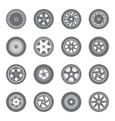 set wheel rims vector image