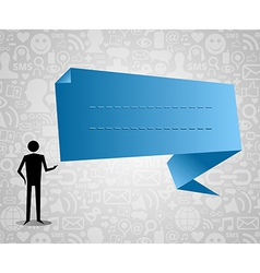 social media speech bubble vector image