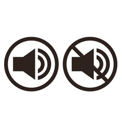 sound and no sign set vector image
