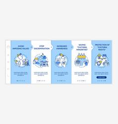 stop discrimination onboarding template vector image