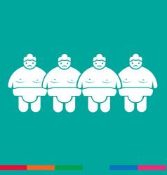 Sumo wrestling people icon design vector