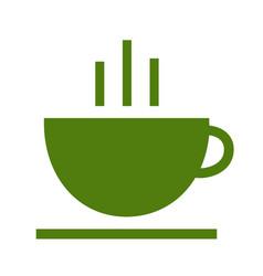 tea cup logotype icon logo template vector image