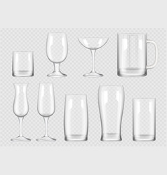 transparent drink glass cup for alcoholic drinks vector image