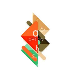 triangle data visualization design option vector image
