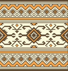 tribal ethnic seamless pattern geometric design vector image