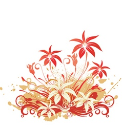 tropical floral graphic vector image