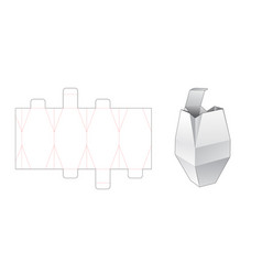 Unique packaging box die cut template vector