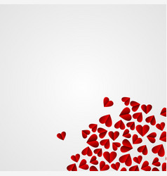 Valentines day abstract background with cut paper vector