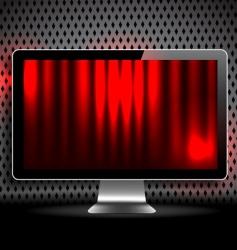 Vector digital lcd monitor vector