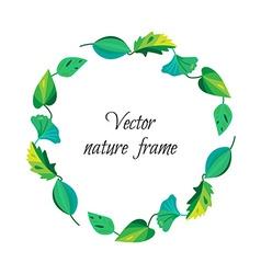Vintage leaves frame vector image